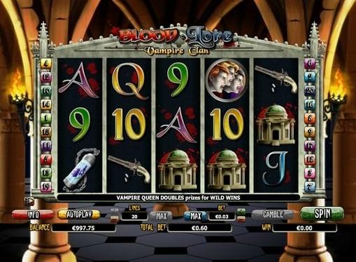 Игровые автоматы онлайн на деньги - Blood Lore Vampire Clan
