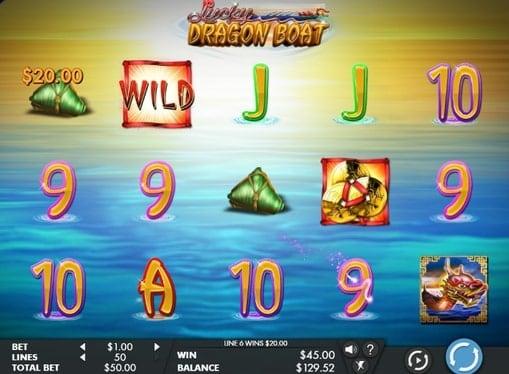 Призовая последовательность в автомате Lucky Dragon Boat