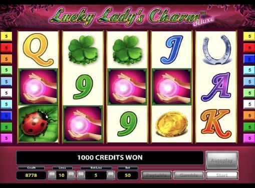 Игровые автоматы онлайн на деньги - Lucky Ladys Charm Deluxe