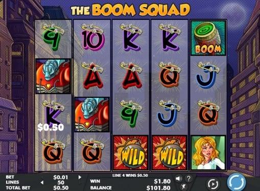 Игровые автоматы на реальные деньги - The Boom Squad