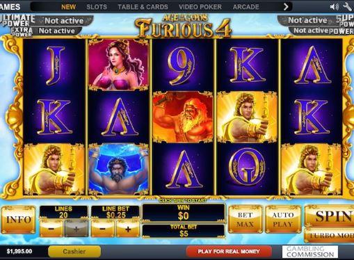 Игровые автоматы на реальные деньги - Age of Gods