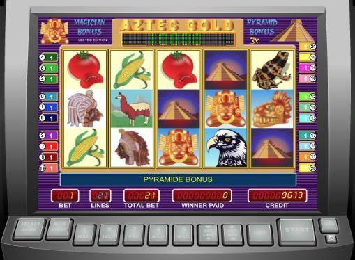 Игровые автоматы играть на реальные деньги - Aztec Gold