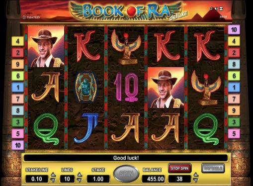 Онлайн автоматы на реальные деньги - Book of Ra