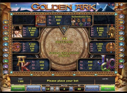 Игровой автомат Golden Ark на реальные деньги