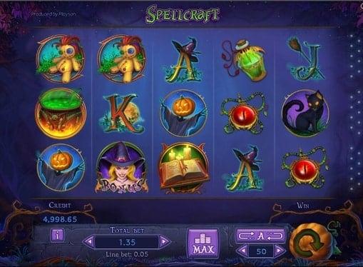 Игровые автоматы на реальные деньги - Spellcraft