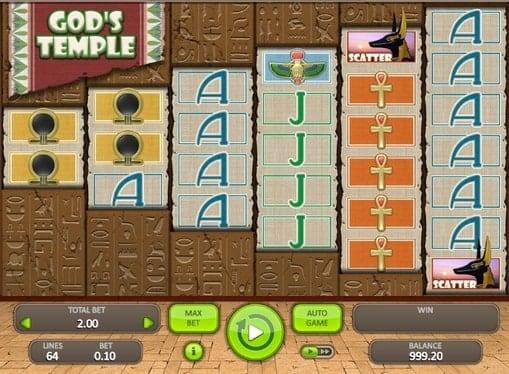 Игровые автоматы на реальные деньги - God's Temple